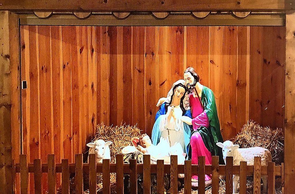 Die Figurengruppe der Heiligen Familie war verschollen. Foto: Polizei