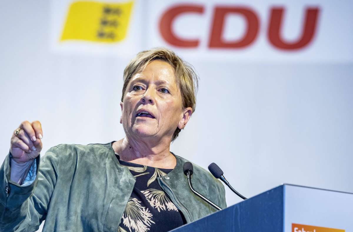 Kultusministerin Susanne Eisenmann hatte keinen Gegenkandidaten. Foto: imago images/Arnulf Hettrich