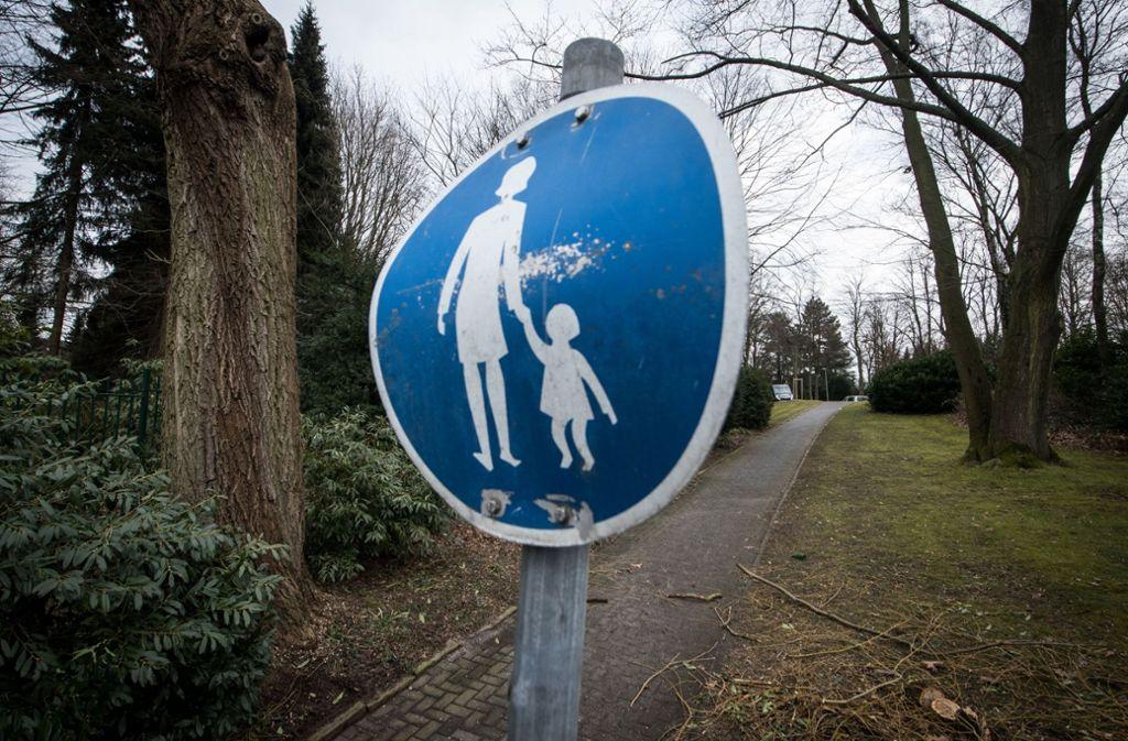 Der Tatort: Ein lauschiger Waldweg Foto: dpa