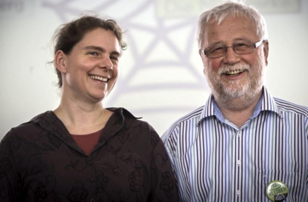 Carola Eckstein und Frank Schweizer gehen auf Stimmenfang. Foto: Achim Zweygarth