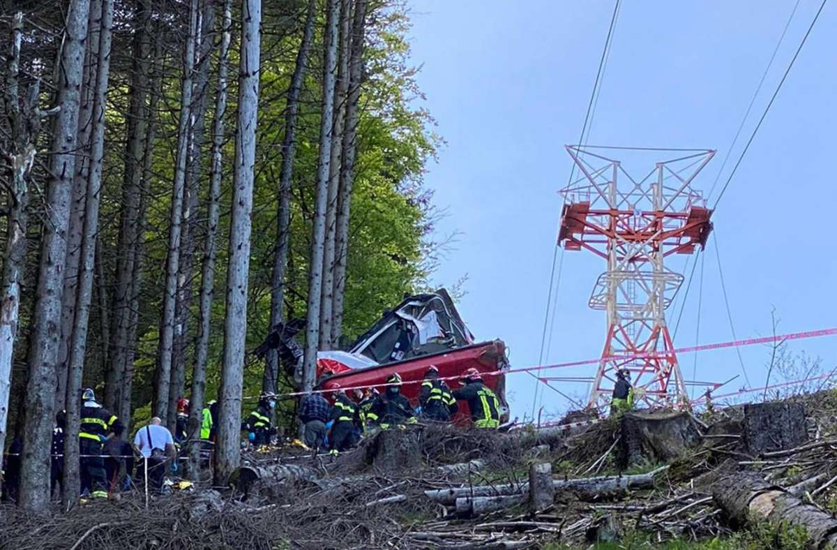 Bei dem Unglück starben 14 Menschen. Foto: dpa/Vigili del Fuoco