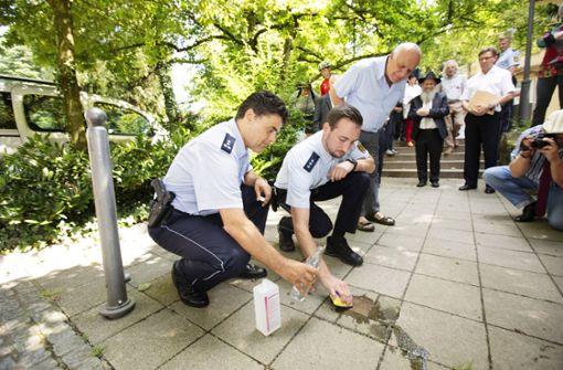 Polizisten setzen Zeichen gegen Judenhass