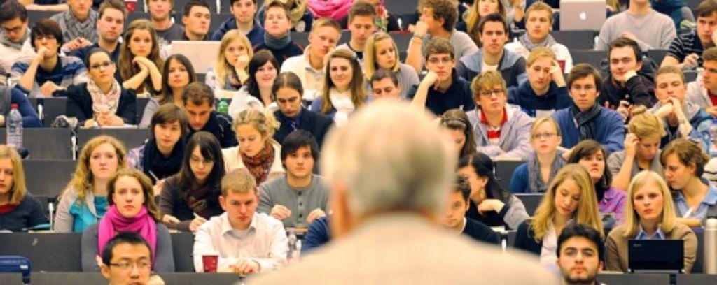 Hörsäle in Ludwigsburg meist gut besetzt – und manchmal sogar überfüllt. Foto: dpa
