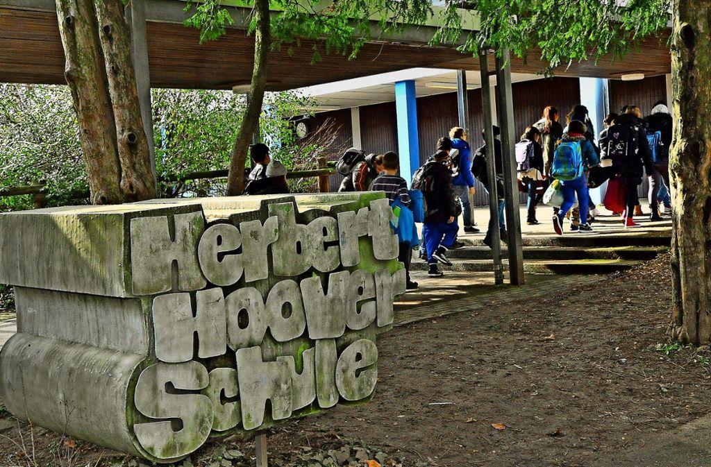 Am Freiberger Standort der Herbert-Hoover-Schule ist zu wenig Platz für die Freiberger Grundschüler. Foto: Georg Linsenmann