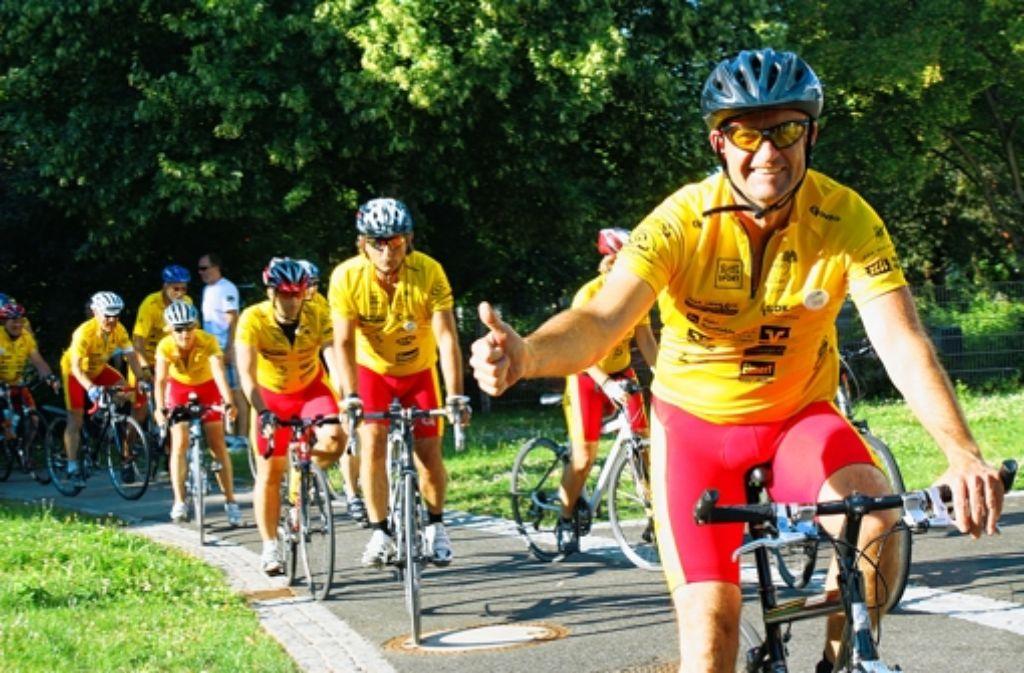 Die Fahrer der Tour Ginkgo rollen dreieinhalb Tage durch die Region. Foto: Herschmann