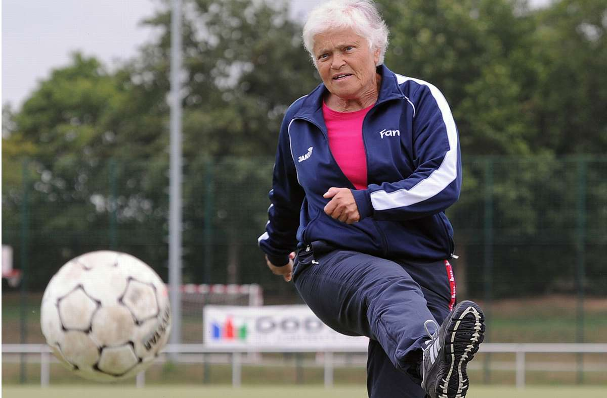 Bärbel Wohlleben erzielte das Tor des Monats September 1974 und ist heute 77 Jahre alt. Foto: /Torsten Silz
