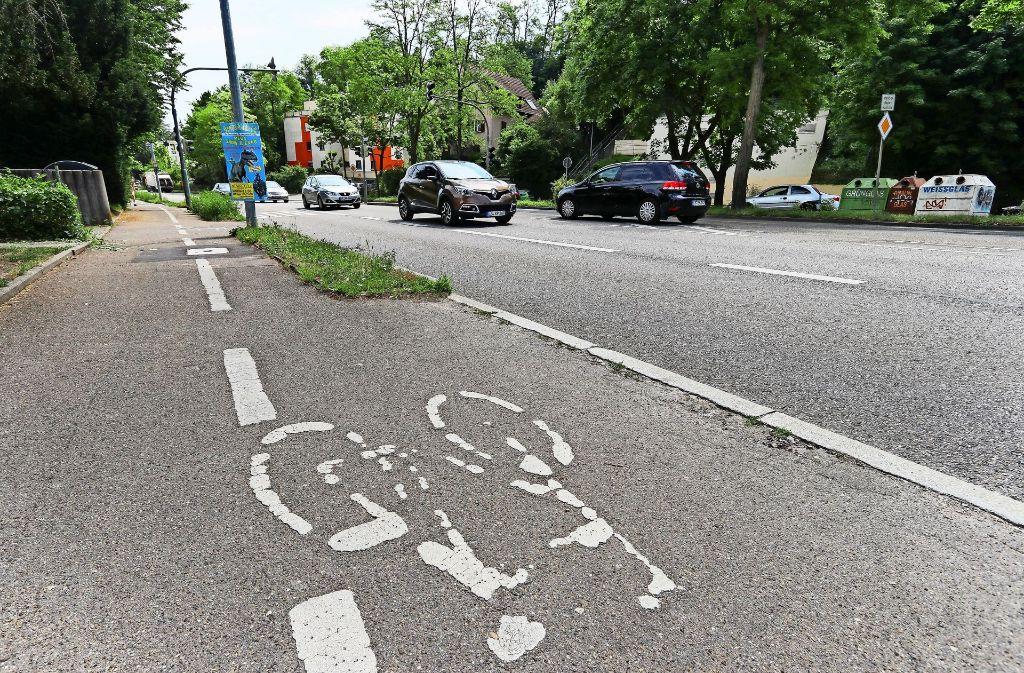 Unendliche Geschichte oder Schlusspunkt? Der Streit um den Radweg  Marbacher Straße  ist übergekocht. Foto: factum/Granville