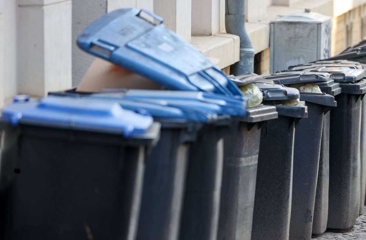 In der Pandemie waren die Mülltonnen stets berstend voll. Foto: dpa/dpa-Zentralbild/Jan Woitas