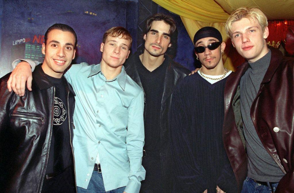 Die Backstreet Boys auf dem Höhepunkt ihrer Karriere im 1997. In unserer Bildergalerie sehen Sie, was aus den anderen erfolgreichen Boygroups der 1990er Jahre wurde. Foto: dpa