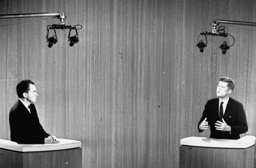 Nixon gab gegen Kennedy beim entscheidenden Rededuell keine gute Figur ab. Er verlor dann auch die Wahl. Foto: AP