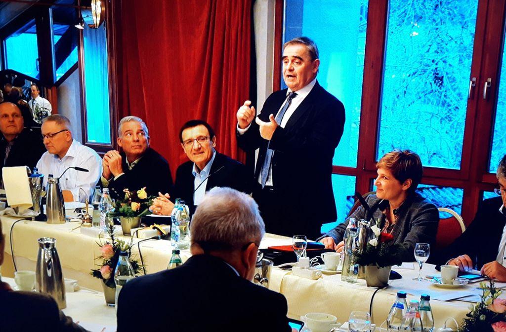 Als Gast bei der Landtags-CDU: Peter Müller mit Fraktionschef Wolfgang Reinhart Foto: CDU-Fraktion