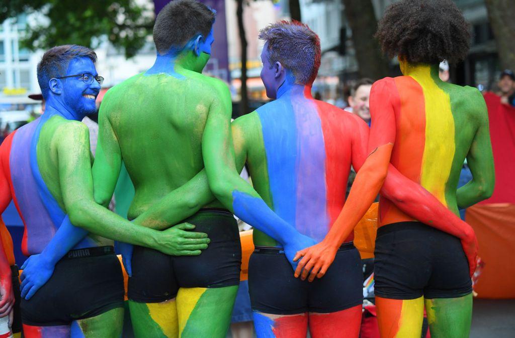 Homosexuelle feiern auf dem CSD. (Archivfoto) Foto: dpa