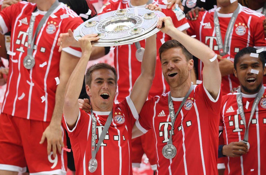 Bayern-Kapitän Philipp Lahm nimmt Abschied. Foto: Bongarts