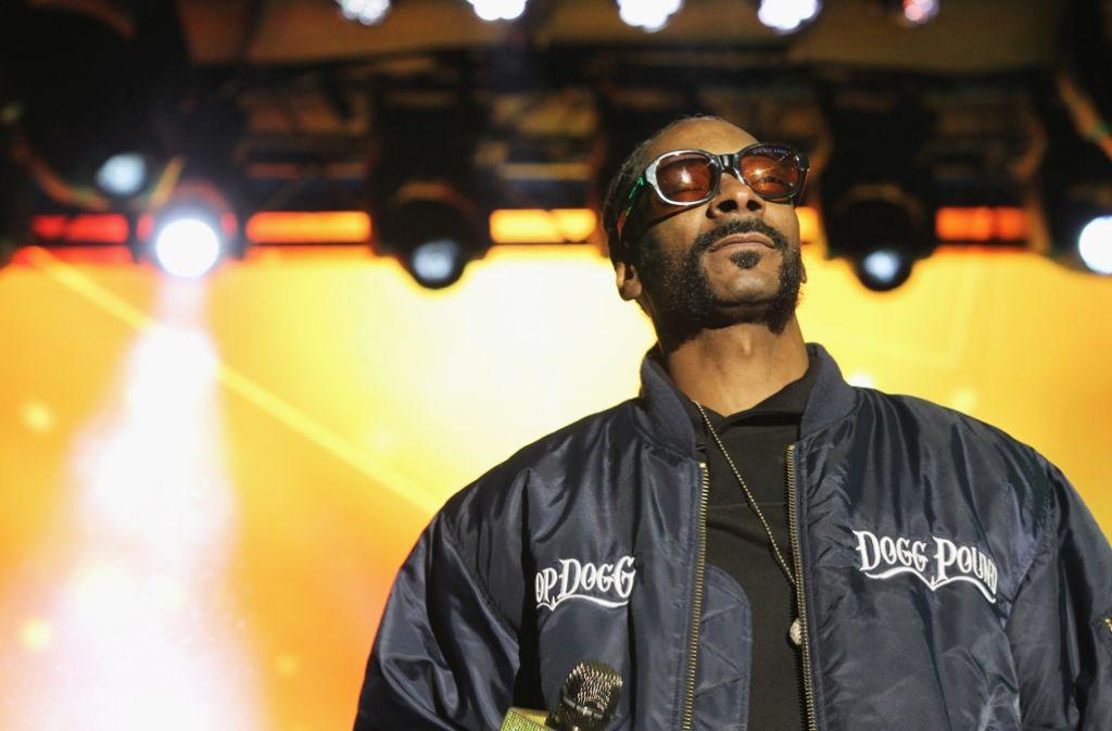 Snoop Dogg drückt bei der Fußball-EM Deutschland die Daumen. Foto: GETTY IMAGES NORTH AMERICA