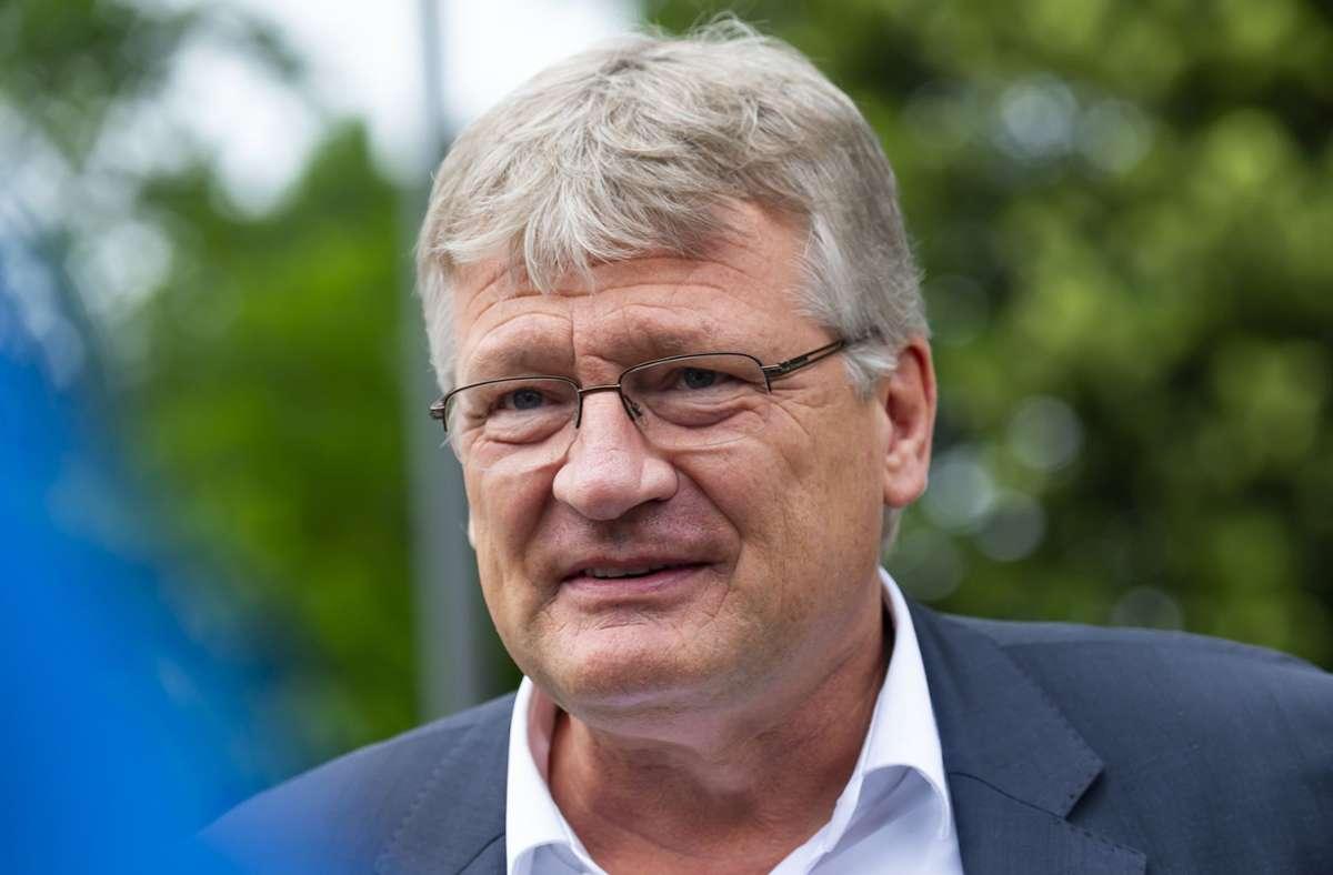 Jörg Meuthen hat sich zu Gerüchten über den Anschluss eines neuen Landesverbands geäußert. (Archivbild) Foto: dpa/Matthias Rietschel