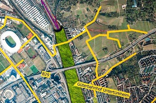Der Entwurf des Architekten: Wo heute Züge fahren, soll ein Park entstehen. Foto: Zweygarth