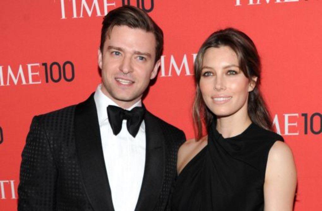 Unter der Kategorie Ikonen führt das Time-Magazine in seiner Liste der einflussreichsten 100 den Entertainer Justin Timberlake auf. Seine Frau Jessica Biel bekommt was vom Glanz ihres Ehemannes ab. Foto: AP/dpa