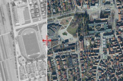 Markante Bauten prägen Fellbachs Stadtmitte