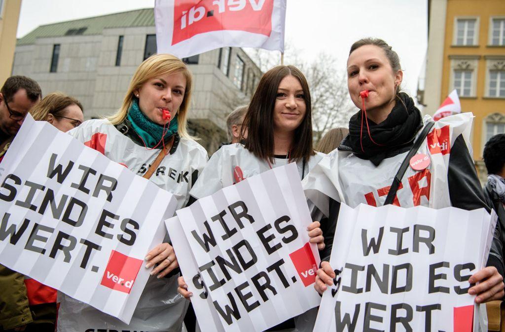 Verdi organisiert den Warnstreik in den öffentlichen Einrichtungen. Foto: dpa