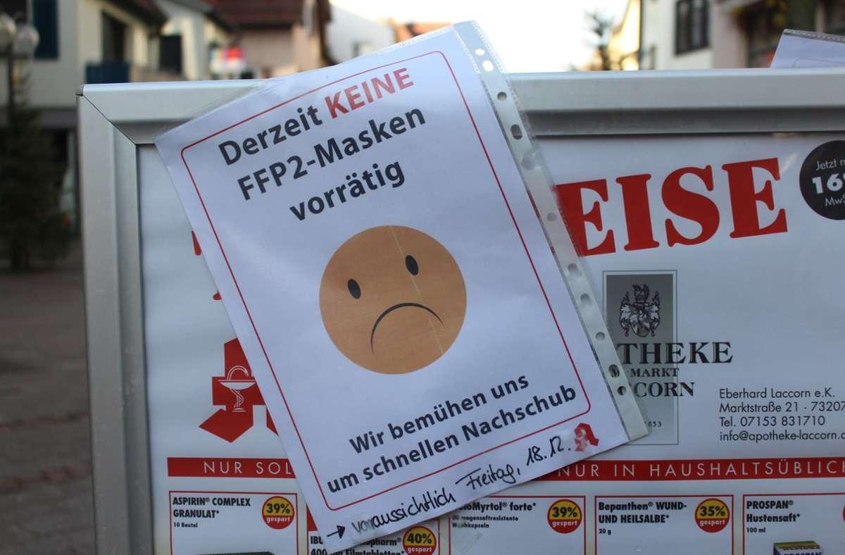 Die FFP2-Masken sind auch in Plochingen beliebt. Foto: /Rainer Hauenschild
