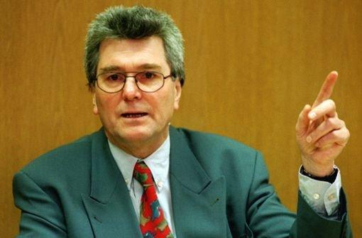 Ehemaliger Umweltminister Harald Schäfer gestorben