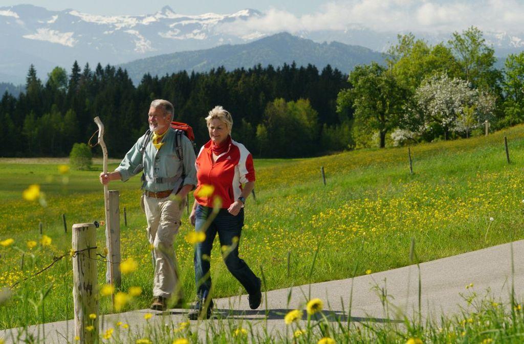 Wandern mit Allgäuer Panoramablick Foto: Scheidegg-Tourismus