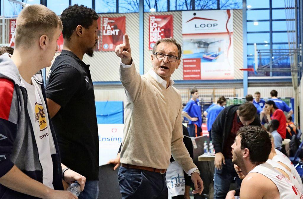 Slobodan Konjevic  gibt jetzt bei den Fellbacher Regionalliga-Basketballern die Richtung vor. Foto: Patricia Sigerist