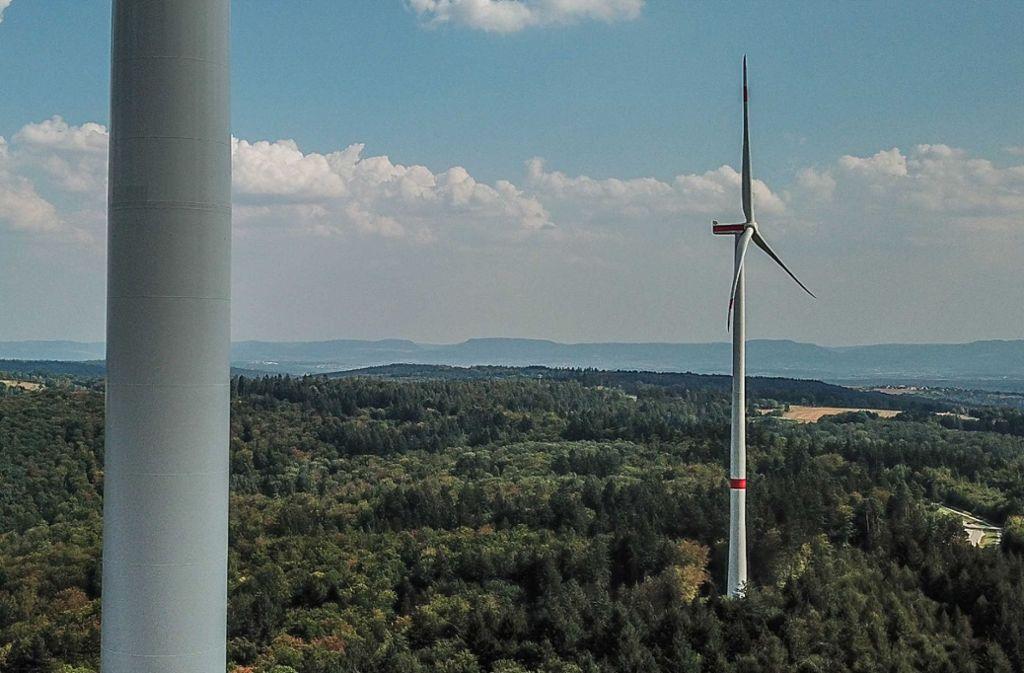 Der Windpark Goldboden ist am Netz – doch die Diskussion um ihn reißt nicht ab. Foto: SDMG