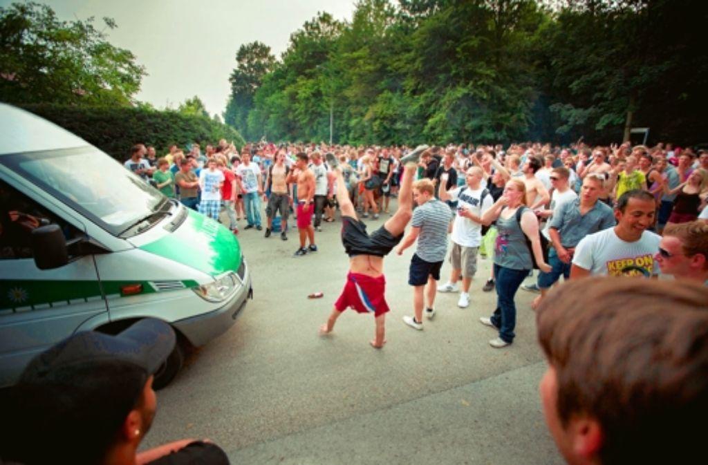 Die Partyauswüchse im Plattenwald sollen nicht folgenlos bleiben. Foto: Gottfried Stoppel