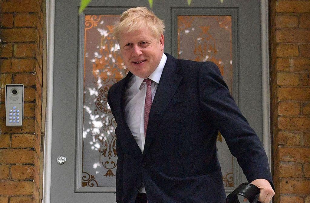 Boris Johnson ist in einer ersten Wahlrunde als Favorit bestätigt worden. Foto: AFP