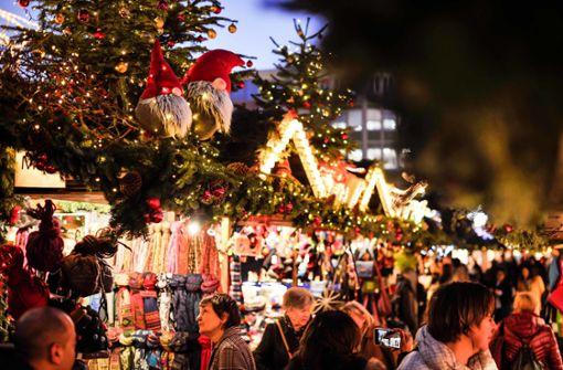 Die Stuttgarter Innenstadt strahlt in der Adventszeit