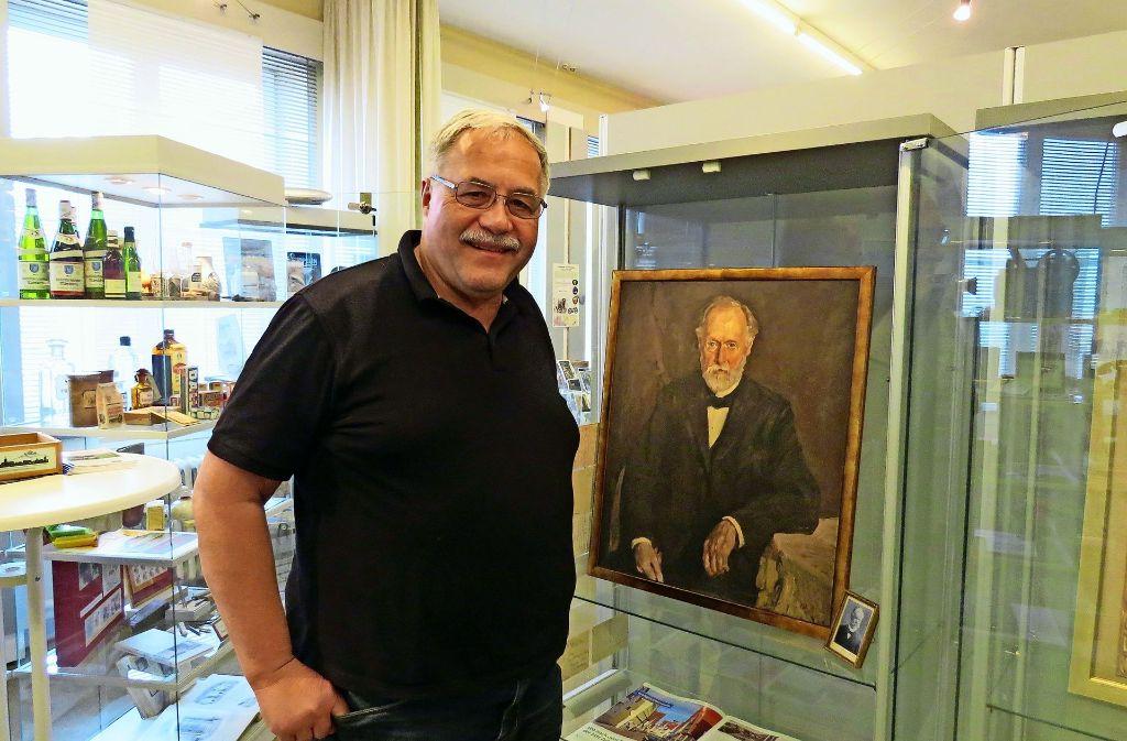 Klaus Enslin vom Bürgerverein  hat die Ausstellung Foto: C. Friedmann