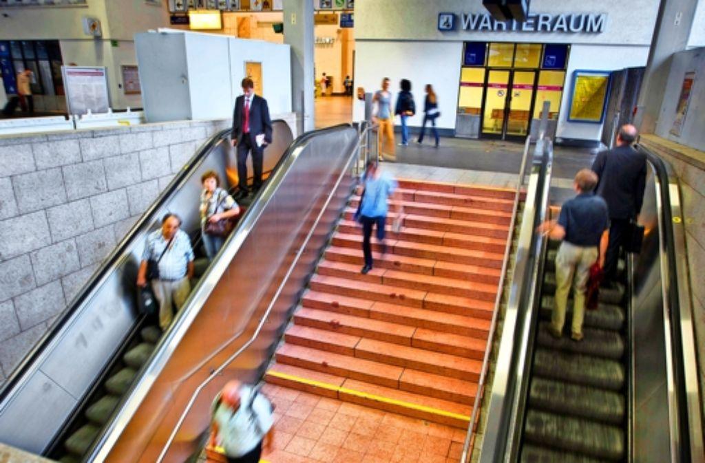 Die Tage des Abgangs zur S-Bahnebene am Hauptbahnhof sind gezählt. Foto: Gottfried Stoppel