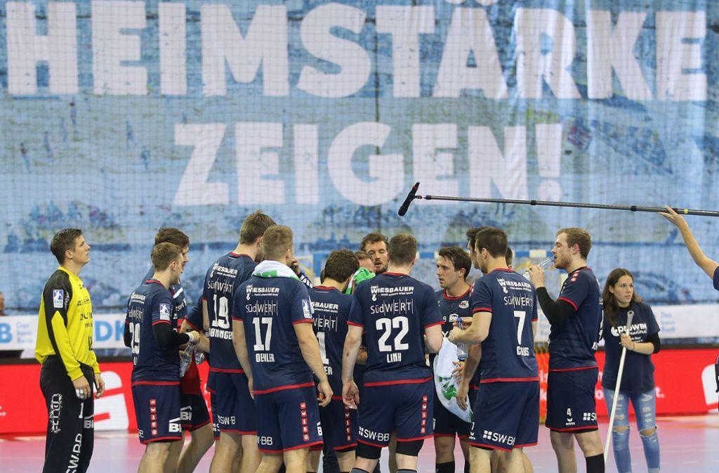Heimstärke zeigen: Die Bundesliga-Handballer der SG BBM Bietigheim wollen zuhause den Klassenverbleib perfekt machen. Foto: Baumann