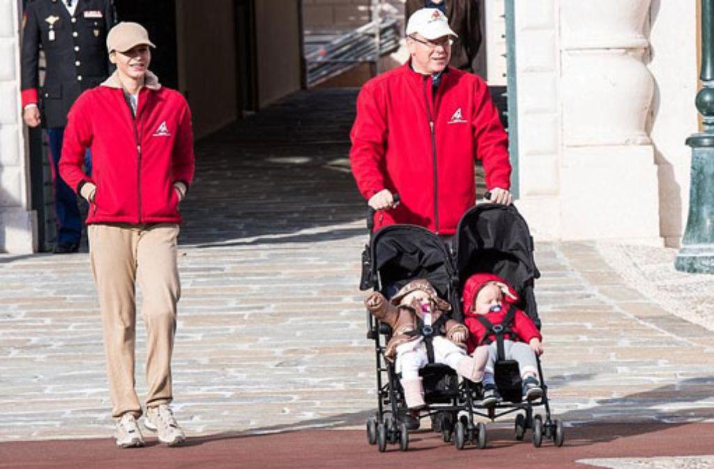 Doppeltes Baby-Glück: Gabriella und Jacques heißen die Zwillinge von Fürst Albert von Monaco und seiner Frau Charlène. Foto: Getty Images