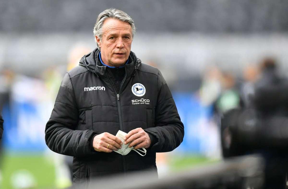 Uwe Neuhaus ist nicht mehr Trainer bei Arminia Bielefeld. Foto: dpa/Martin Meissner