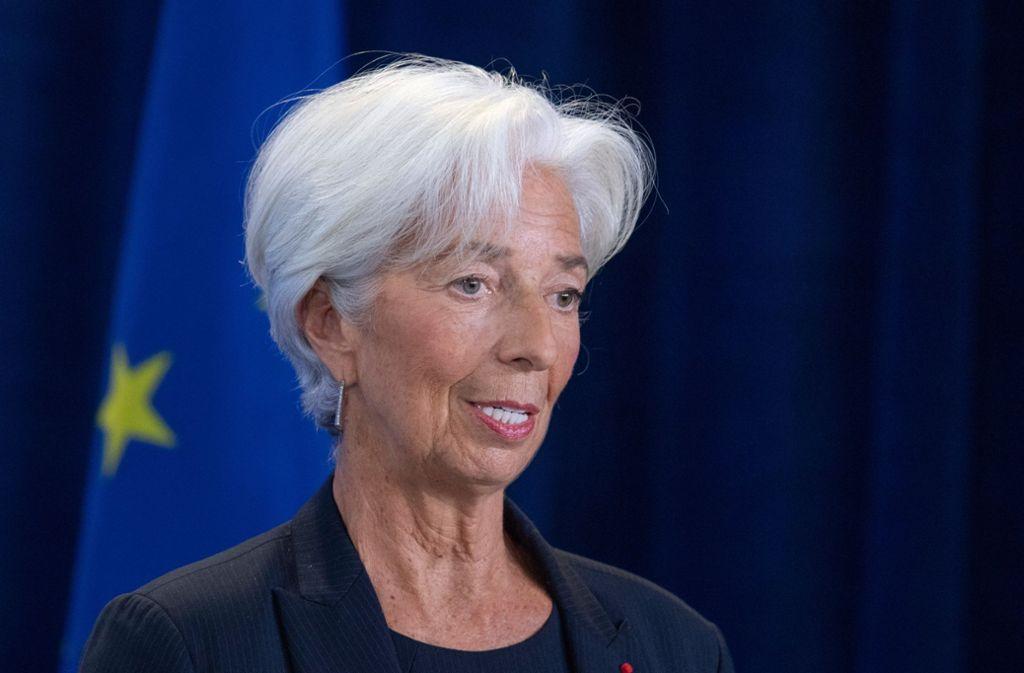 Christine Lagarde ist seit Freitag neue EZB-Präsidentin. Foto: dpa/Boris Roessler