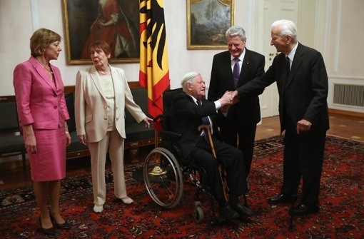 Helmut Schmidt zu Gast bei Bundespräsident Gauck