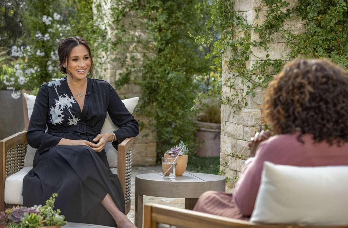 Herzogin Meghan sprach sehr offen in ihrem Interview mit Oprah Winfrey. Foto: dpa/Joe Pugliese