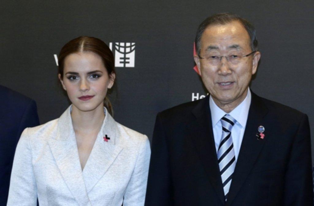 Mit nur 24 Jahren wird Schauspielerin Emma Watson UN-Sonderbotschafterin für die Gleichberechtigung von Frauen und Männern. Foto: dpa