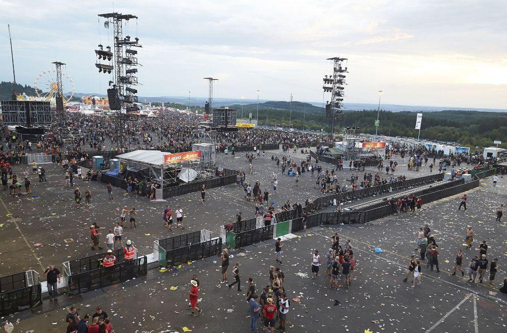 Das Festival ist unterbrochen worden. Foto: dpa