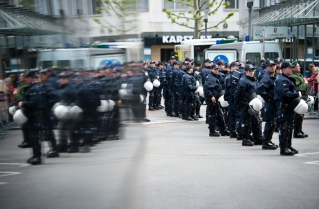 1000 Polizisten waren am Sonntag im Einsatz. Foto: dpa