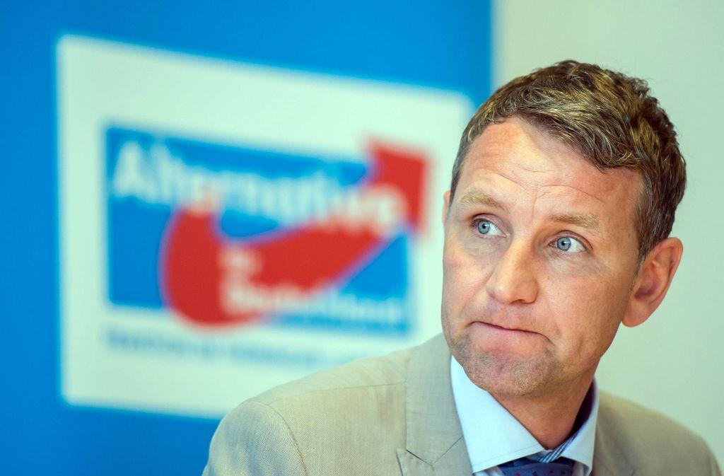 Björn Höcke hat die Aktionskünstler selbst angezeigt. Foto: dpa-Zentralbild