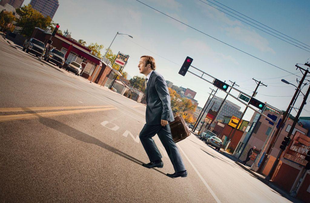 Jimmy McGill (Bob Odenkirk) erlebt seinen Alltag oft als Mühsal. Foto: ZDF/Ursula Coyote