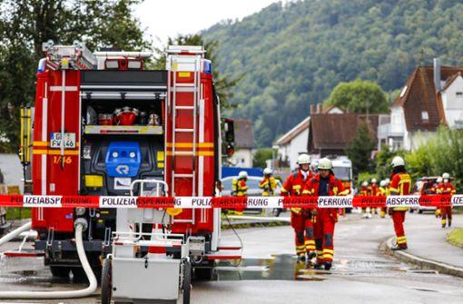 Heftige Explosion beschädigt Wohnhaus stark