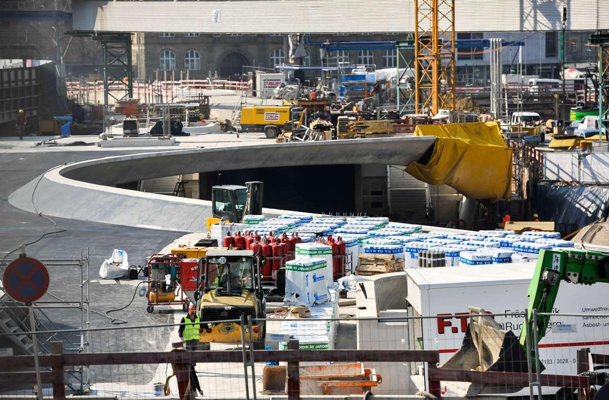 Die neue Haltestelle Staatsgalerie während der Bauzeit. Foto: Lg/Kovalenko