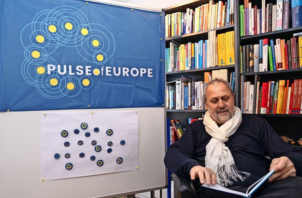 Horst Haller steht hinter dem Gedanken eines vereinten Europas. Foto: factum/Weise