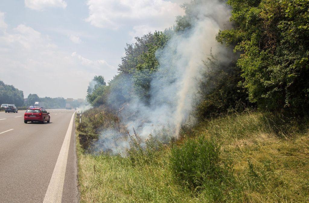 An der B14 bei Waiblingen kam es zu einem Brand. Foto: 7aktuell.de/Sven Adomat