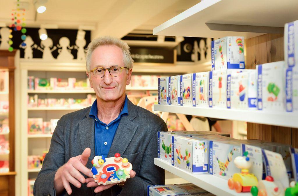 Stefan Marder, der Herrscher über zehn Spielwaren-Kurtz-Filialen Foto: Lichtgut/Max Kovalenko
