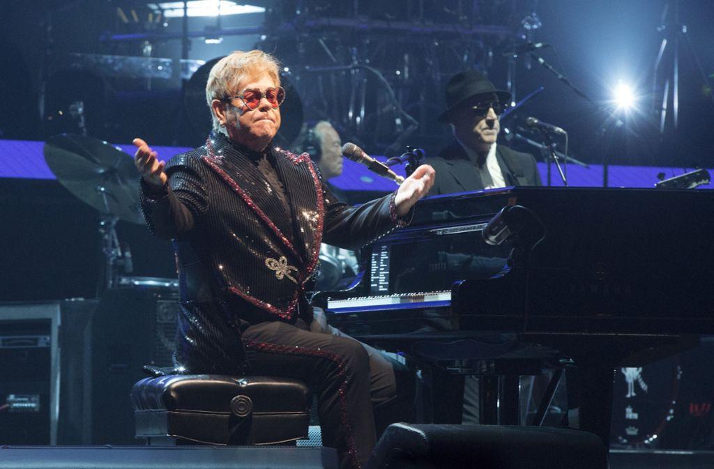 Feiert Elton John endgültig Abschied? Vorher ist er noch in Stuttgart zu sehen. Foto: Invision via AP/dpa